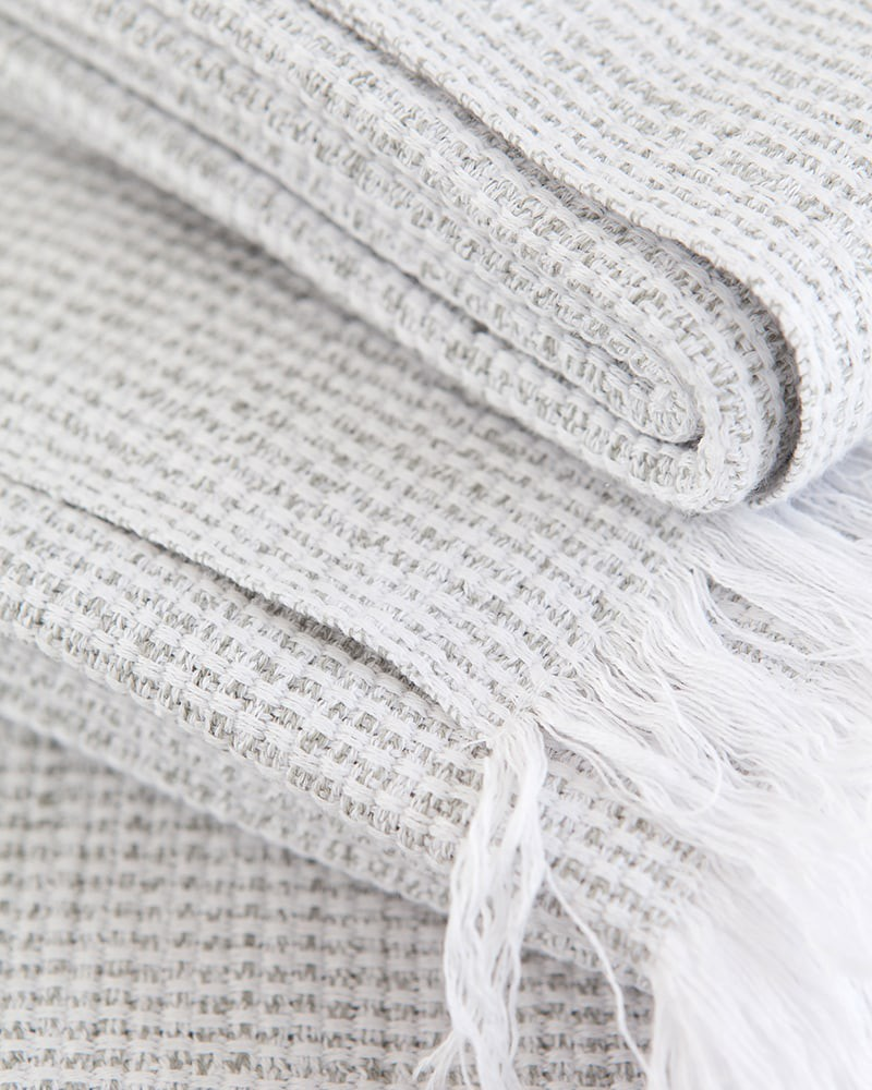 Dove grey Summer towel